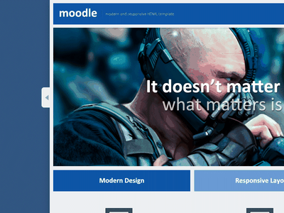Moodle modern clean responsive customize web design