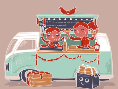APRIL - ah, who does not love a good sausage roll.... foodtruck cooking food caracter caracter design kidsillustration adobeillustrator illustrator design vector 2021 calendar kalender