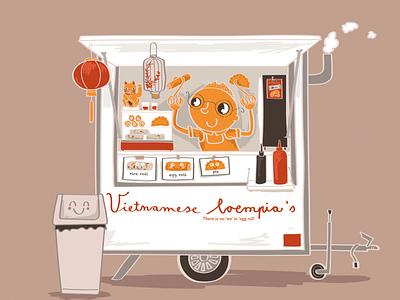 September creative character vietnamse vietnam spring roll egg roll 2021 kalender calender calendar