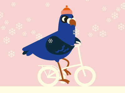 Ride on my bicycle (pigeon)