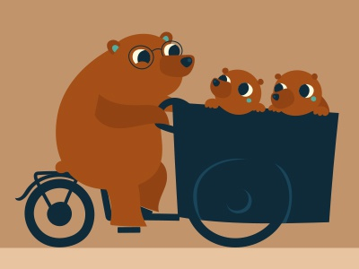 Friendly bear bike