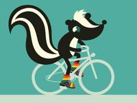 Colorfull bike boy skunk