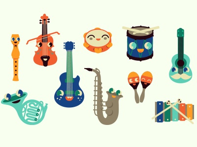 Music-Nonstop! vector music caracter kawaii
