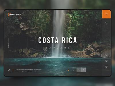 Explore Costa RIca explore nature landing landing page costarica ui website web site design