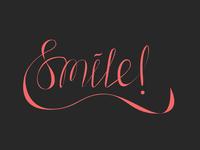 letter smile