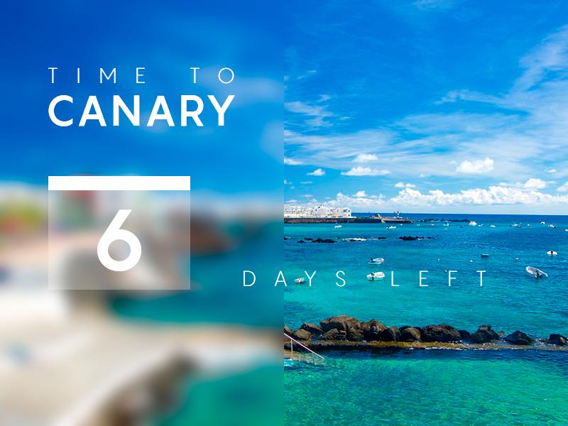 "#daily UI #014 ""Countdown Timer"" countdown timer canary 014 photo daily ui daily color blue webdesign dailyui web uiux design"