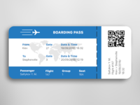 "#daily UI #024 ""Boarding Pass"""