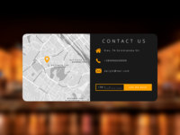 """#daily UI #028 """"Contact Us"""""""