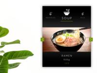 """daily UI 043 """"Food/Drink Menu"""""""