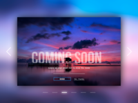 """daily UI 048 """"Coming Soon"""""""