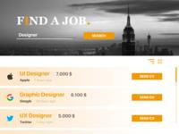 """daily UI 050 """"Job Listing"""""""