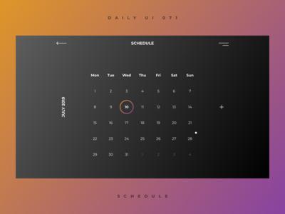 "daily UI 071 ""Schedule"""