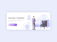 "daily UI 078 ""Pending Invitation"""