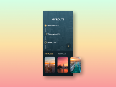 "daily UI 079 ""Itinerary"""