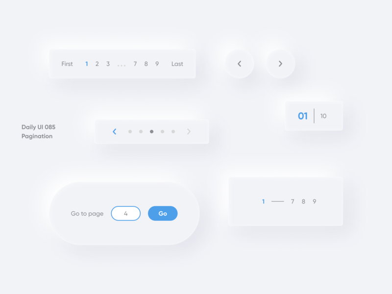 "daily UI 085 ""Pagination"" vector good best switcher number pagination page 085 button amazing color great beautiful nice awesome wonderful ui daily ui web design"