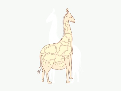 Big Wild Giraffe hello dribbble first shot pet drawing series giraffe character animal design vector illustration debut