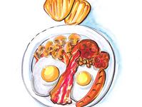 english breakfast illustration