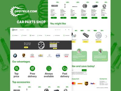 Car parts shop DPDTEILE website