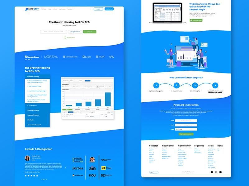 Serpstat website marketing site marketing seo agency seo web design web design ux ui