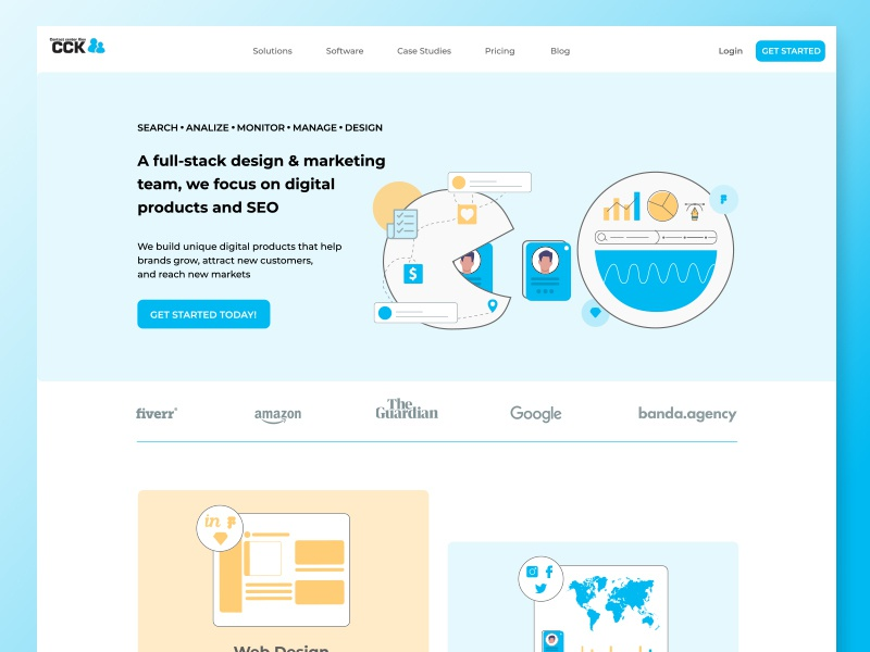 """People Center"" — Design and marketing team landing page design landingpage agency landing page agency website seo marketing isometry web design ux web design ui"