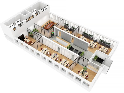 Office 3d planning visualization by render.ua 3dsmax 3d visualization office 3d model 3d