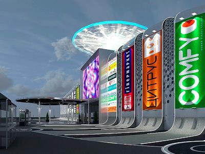 facade concept retail 3dsmax