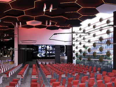 conference hall 3dsmax
