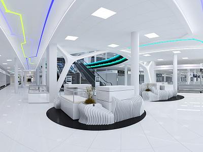Retail Store Interior branding light 3dsmax
