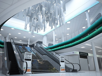 Retail Store atrium branding light 3dsmax