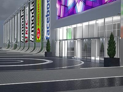 Retail fasad design visualization by render.ua superheroes.ua exterior retail