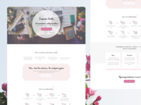 Landing page for suppliers handmade online store landing page web ux ui design