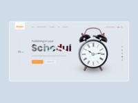 Main screen for the publishing house website book publishing web ux ui design