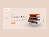 Main screen for the publishing house website publishing house book web ux ui design