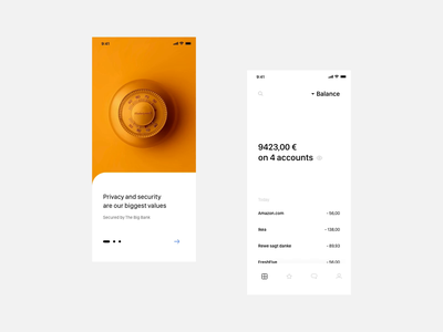 Multibanking App Concept concept simple clean interface clean branding design ux  ui typography animation simple dashboard tapbar overview balance transactions onboarding minimal white app