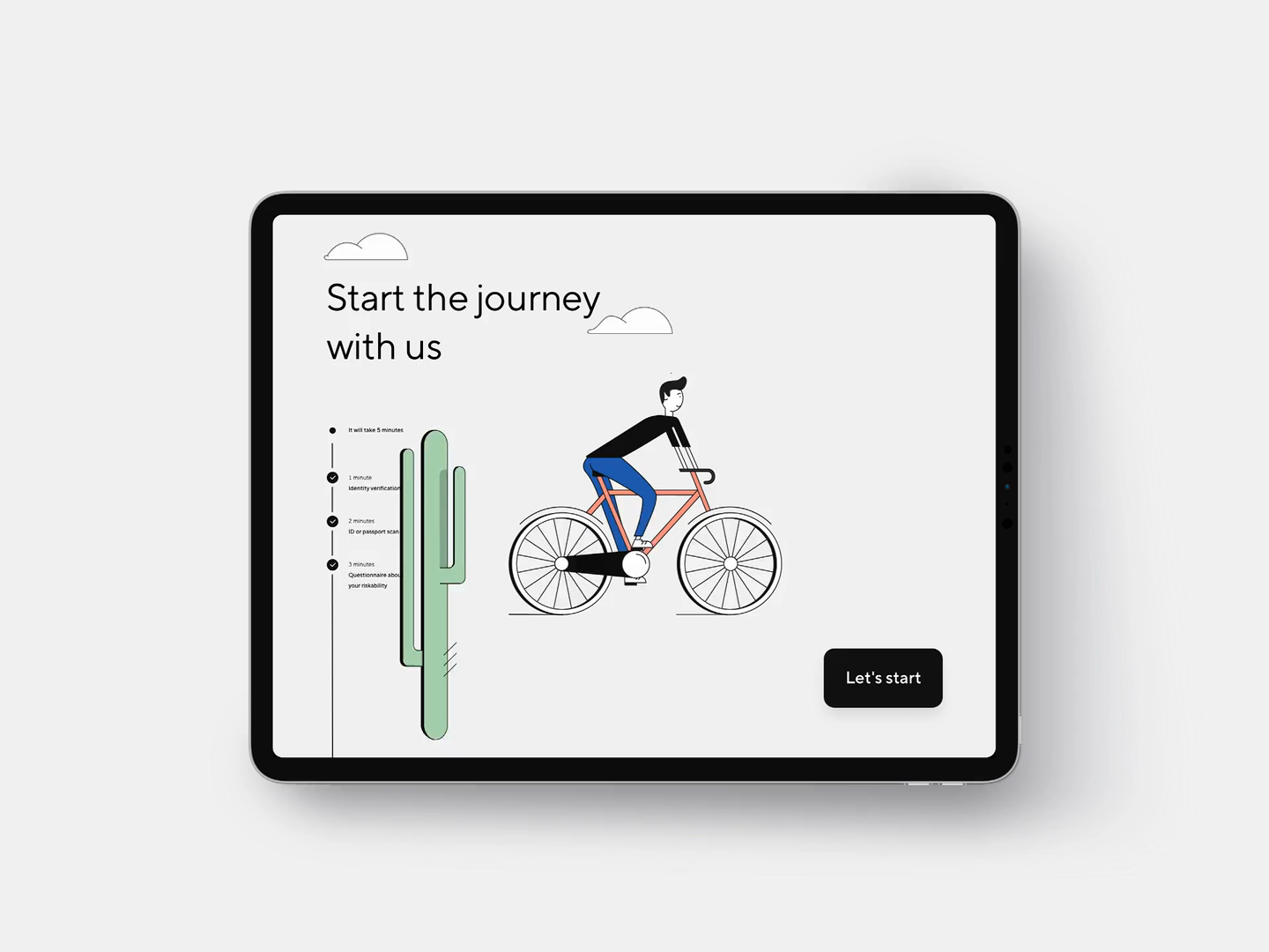 Onboarding Cyclist Character Animation