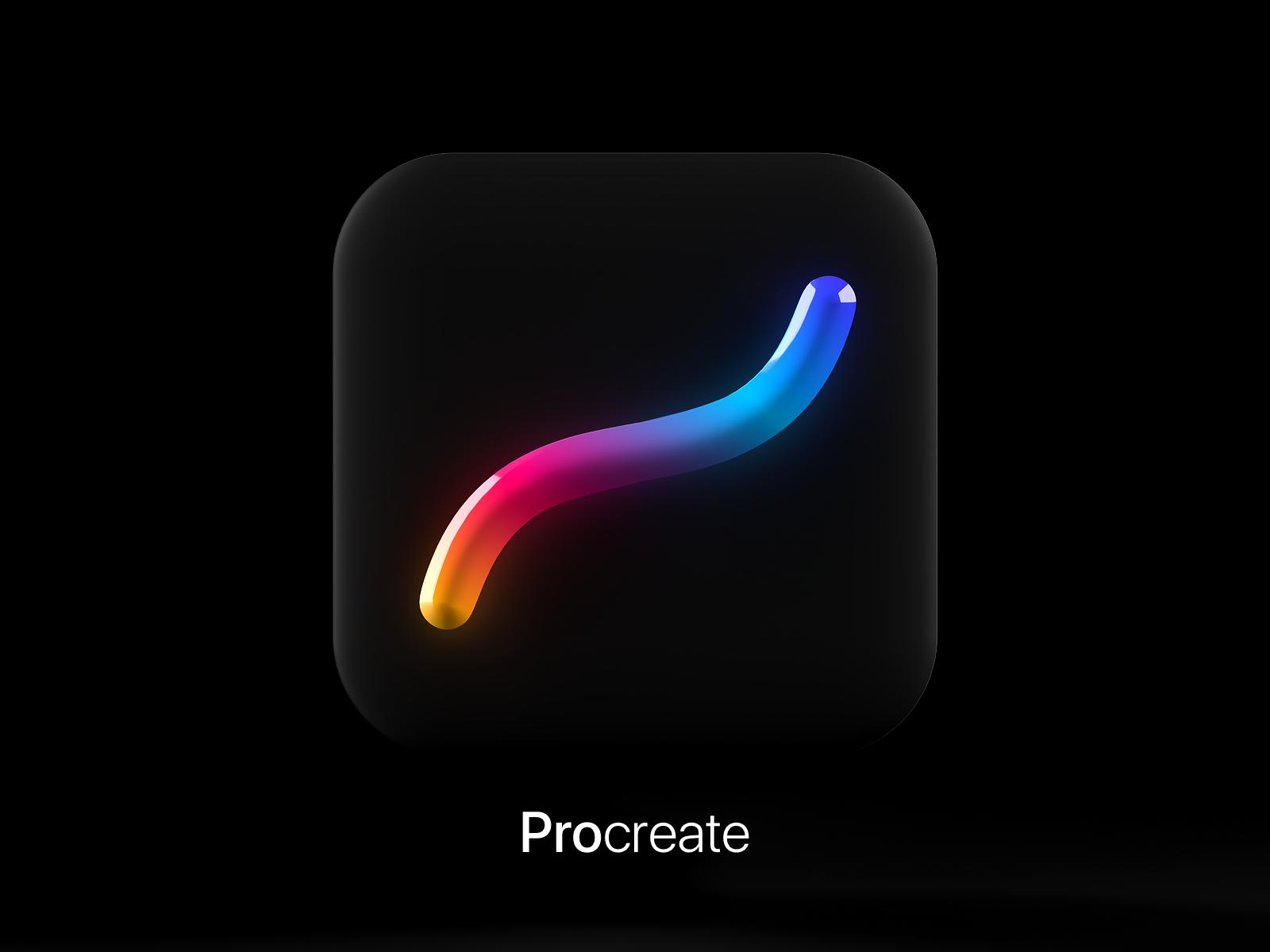 Procreate App Icon 3D Tilde Swoosh™️