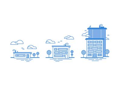 House Wheel illustration Rebound - Linear Study flat skyscraper vector line tree pricing line art line icon house comparison cloud blue