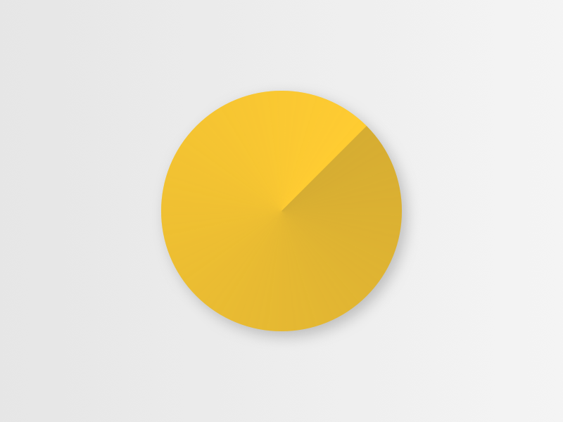 Abstract pie chart with shadow data visualisation
