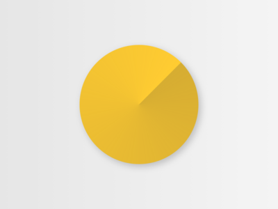Abstract pie chart with shadow data visualisation pie chart yellow visualisation shapes shadow circle grey data neugelb