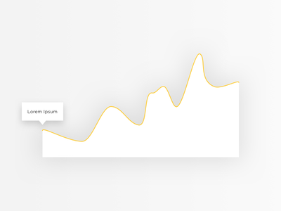 Abstract yellow line graph with shadow data visualisation gradient line data visualisation tooltip white shadow ui yellow graph