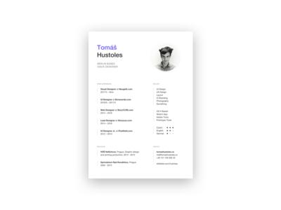 New CV – Curriculum Vitae portfolio white tomáš hustoles resume curriculum vitae cv