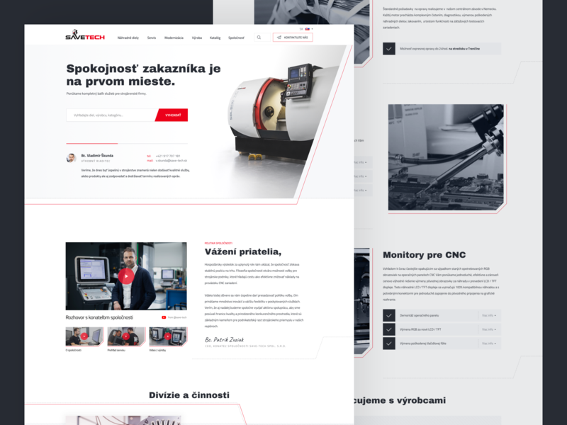 Save-Tech redesign uidesign manufacturing service website