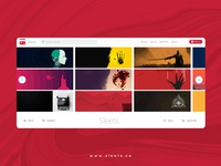 Sleets website :  Homepage design