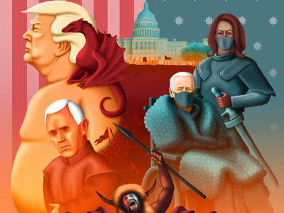 House of Thrones dailysketch sketchoftheday covid19 politics coronavirus illustration digitalart rdrawing inauguration art editorial potus houseofcards got gameofthrones kamalaharris mikepence donaldtrump joebiden uselection