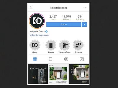 Social Media for Kolesnik Doors instagram template instagram stories instagram banner instagram socialmedia icon logo identity branding design