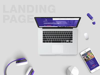 Landing Page design minimal webdesign web ux ui identity branding