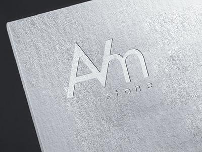 AVM stone logotype minimal graphic design flat logotype graphicdesign logo web branding identity design