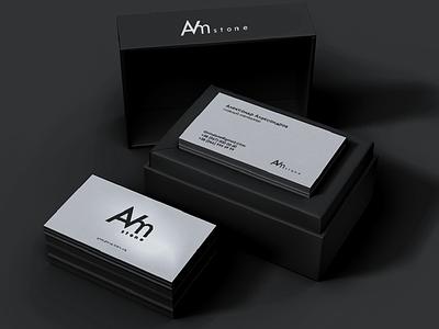 AVM stone logotype card vector minimal typography graphic design logotype graphicdesign logo branding identity design