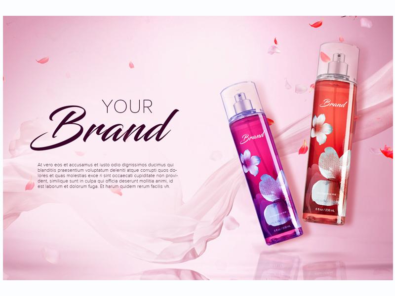 BANNER cosmetics perfume banner ui design uxd technologies deepa