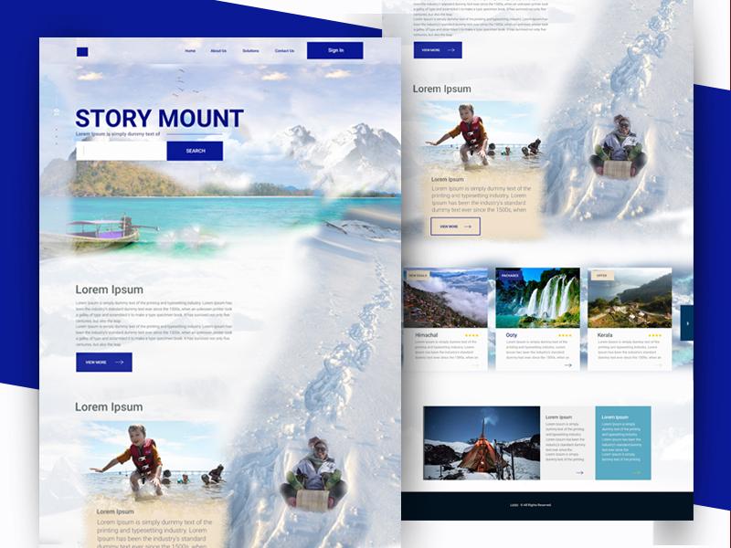 WEBSITE travel tourist uiux design uxd technologies deepa